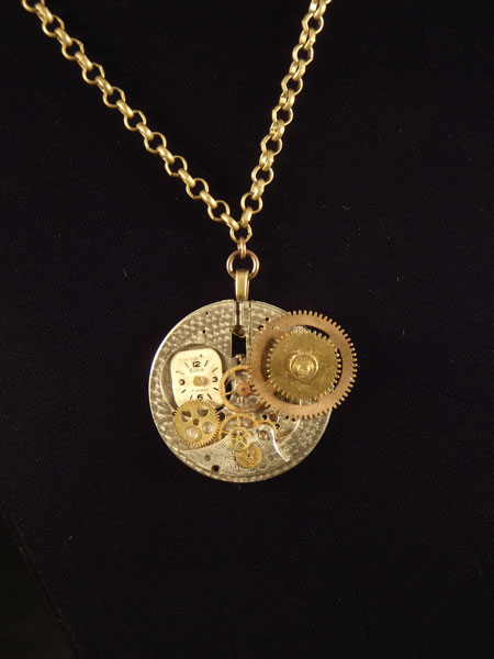 image of Detective Martha M. Deely, Steampunk Necklace by Jennifer Campbell