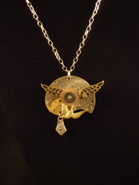 image of Doctor Selina Lanty Pyle steampunk necklace by Jennifer Campbell