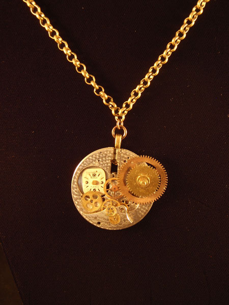 image of steampunk necklace by Jennifer Campbell