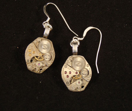 image of steampunk earrings