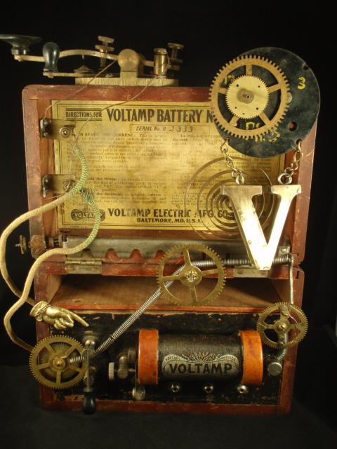 Steampunk Assemblage Voltmeter