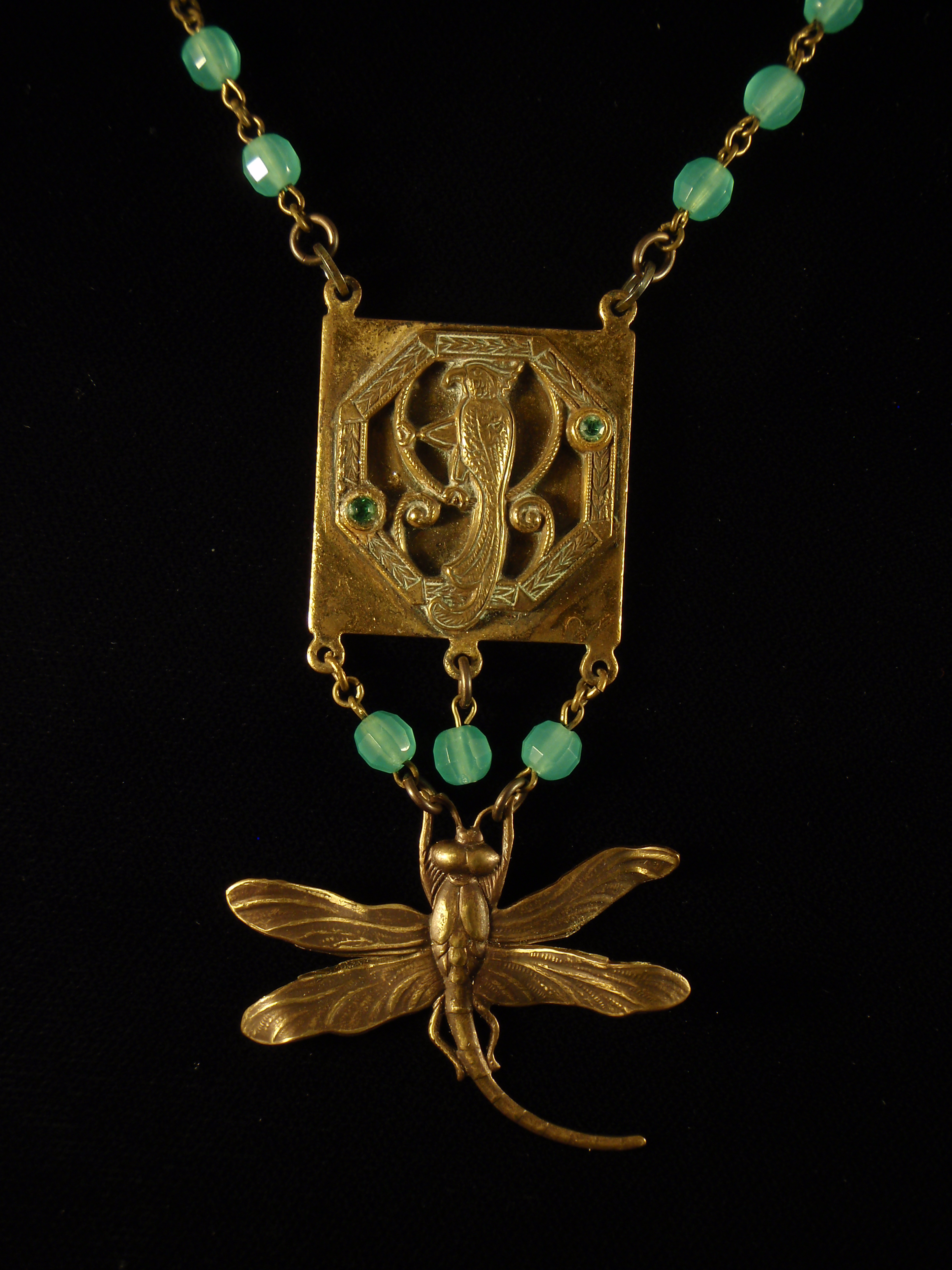 Art Deco Era Dragonfly Necklace Jennifer Campbell
