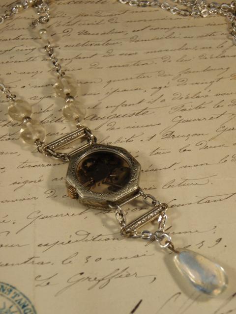 Image of Time Crystal Vintage Treasure Necklace by Jennifer Campbell Design Portland OR